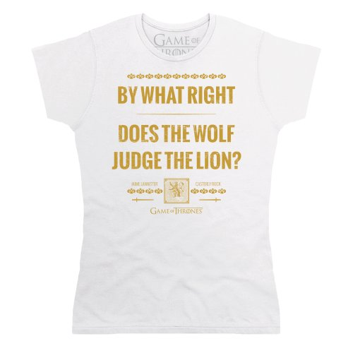 Official Game of Thrones - Jaime Lannister Quote Camiseta, Para mujer Blanco