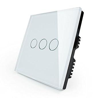 Lichtschalter 3-Weg Glas Touchscreen Wandschalter VL-C303-61: Amazon ...