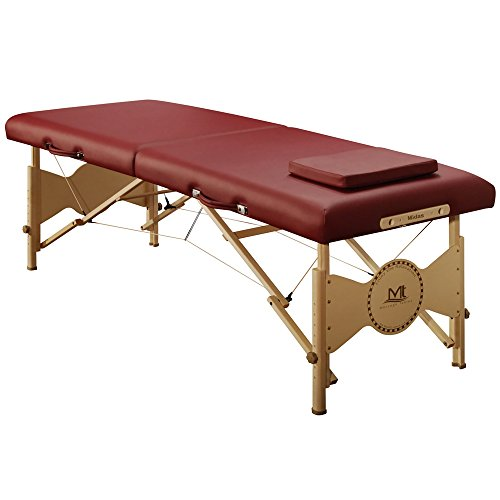 """Mt massage Midas Entry 28"""" Professional Portable Massage Table Package(Burgundy)"""
