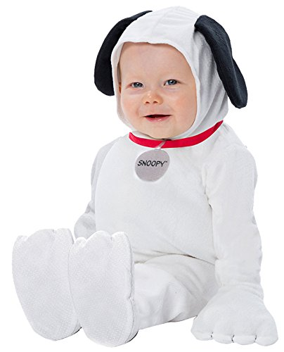 Snoopy Halloween Costume Infant (Palamon Baby's Peanuts Snoopy Costume, White, 0-9)