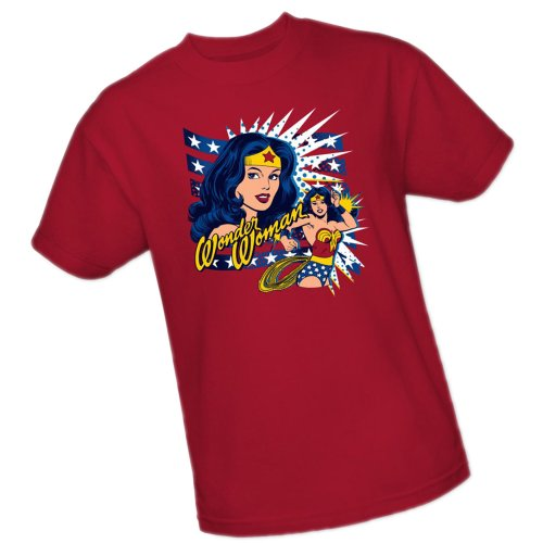 Pop Art -- Wonder Woman -- DC Comics Adult T-Shirt, Medium