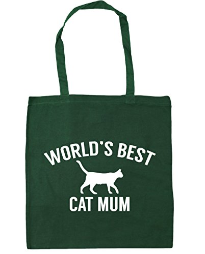 best Bag Shopping Gym Tote Bottle mum World's HippoWarehouse litres Green 10 x38cm 42cm cat Beach pyqHHZ