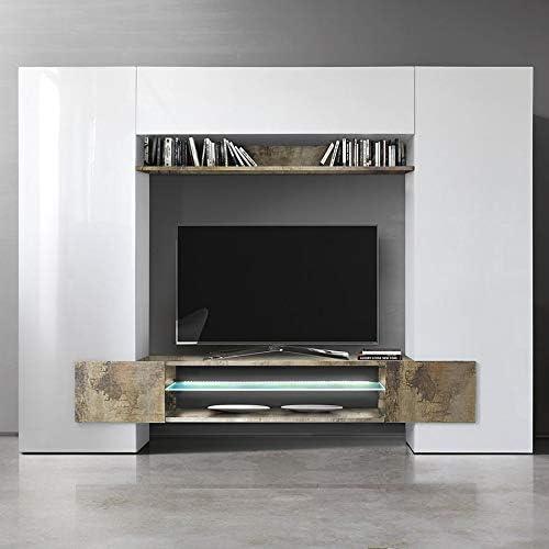 Kasalinea Eros 2 - Mueble para televisor de Pared, Color Blanco ...