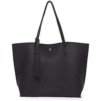 23d8d8d3c764 Sumerk Tassel Leather Tote Bag for Women Casual Tote Bags Shoulder Bag  Satchel Ladies Purses and