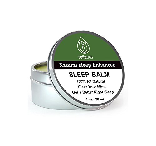 Badger Sleep Balm - Sleep Balm against poor sleep, with helpful blend of essential oils. A calming and soothing sleep aid balm for a deep peaceful sleep. Combine with eye-mask, sleepPhones and other insomniac's things