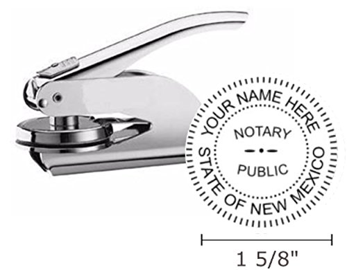(New Mexico Notary Seal Embosser, Pocket/Hand Model, 1-5/8