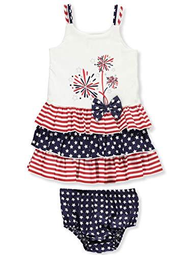 (Bonnie Baby Baby Girls Appliqued Tutu Dress and Panty Set, Fireworks)