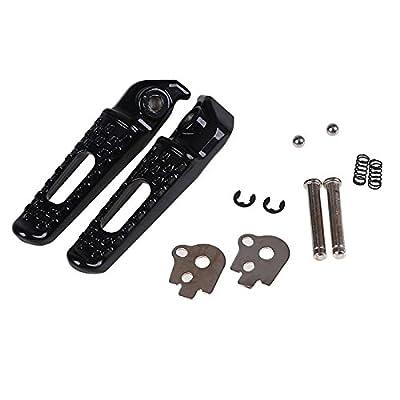 Rear Foot Pegs Rests Footrest Pedals For HONDA CBR600RR 2003-2014 CBR1000RR 04-14 CBR1000 CBR600 RR Motorcycle Black: Automotive
