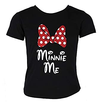 Disney Minnie Mouse Glitter Bow Ladies's T-Shirt