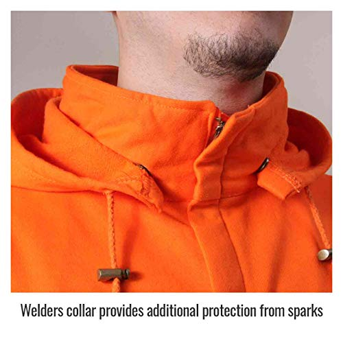 Revco/Black Stallion TruGuard™ 200 FR Cotton Hooded (Safety Orange) Sweatshirt, Reflectives 2XL by Black Stallion (Image #3)