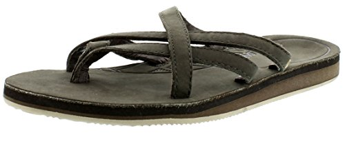 Teva Olowahu Leather W's, Women's W Olowahu Leather-w Black Olive