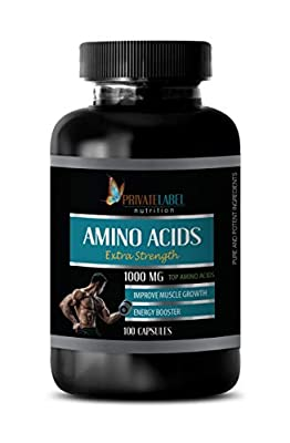 pre Workout for Men Fat Burner - Amino ACIDS 1000 mg Complex - Extra Strength - Amino acids Pills for Men - 1 Bottle 100 Capsules