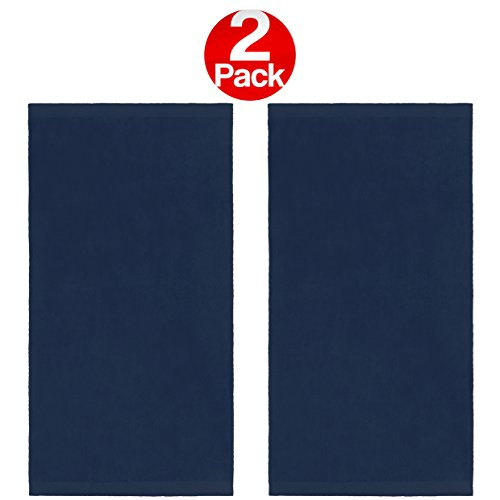 Discount KAUFMAN - 30 X 60 VELOUR BEACH AND POOL TOWEL 2 PACK (Navy)