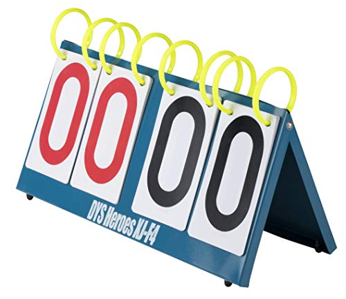 Juvale Flip Scoreboard - Tabletop Flip Score Keeper, Scoreboard Flipper, Score Flip Chart, Portable and Waterproof, for Sport Games and Competitions, Score from 00 to 99, 14.5 x 7 x 1 Inches