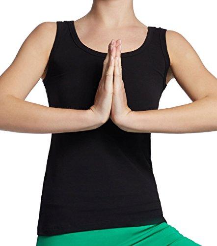 Esparto - Camiseta sin mangas de yoga para mujer (algodón orgánico, talla XS - XL, Currygelb
