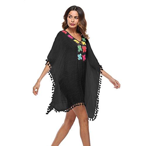 Costume Bagno Donna Stampa Estivo da da di Oversize Nero Sexy Copricostume Dexinx gaxwfnHdg