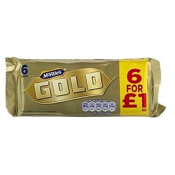 Amazoncom Mcvities Gold Bars 6pk Pack Of 3