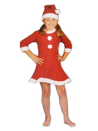 55aa2cac4 Girls Santa Suit Xmas Outfit Fancy Dress Costume - Children Father Christmas  Clothes ( 3 Pieces ): Amazon.co.uk: Kitchen & Home