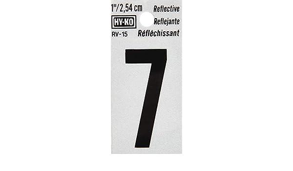 Hy-Ko RV-15//4 1.25 Black Reflective #4 House Number