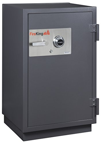 Fireking 2-Hour Fire with Impact & Burglary Rated Safe, 41.13'' H x 25.5'' W x 22.88'' D/4.9 cu. ft., Graphite by FireKing