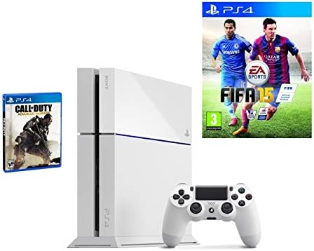 Sony Playstation 4 Console 500GB PS4 White Call of Duty Advance Warfare + FIFA 15 Games Bundle deal [Importación Inglesa]: Amazon.es: Videojuegos