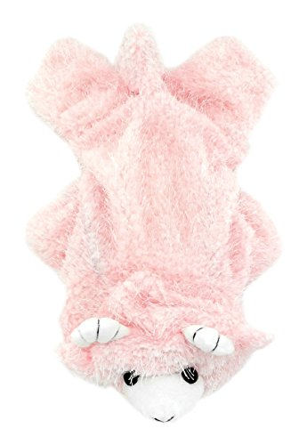 SMALLLEE_LUCKY_STORE Petmall Dog Cat Clothes Warm Plush Fleece Goat Halloween Dress Up Costume, X-Large, Pink -