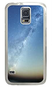 Milky Way Over Horizon Custom Samsung Galaxy S5 Case and Cover - Polycarbonate - Transparent