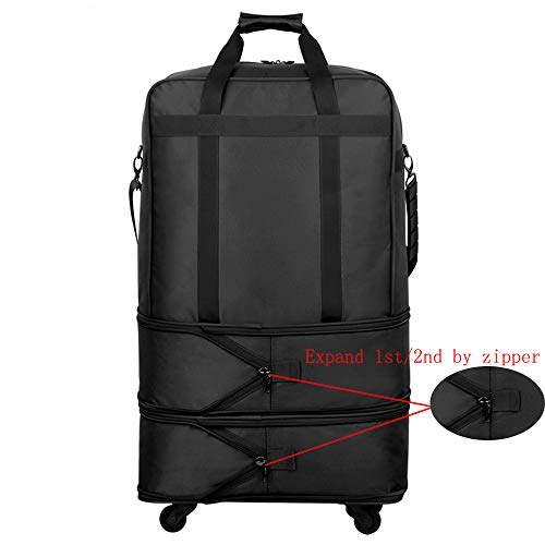 Hanke Expandable Foldable Suitcase Luggage Rolling Travel Bag Duffel Garment Tote Bag for Men Women by Hanke (Image #3)