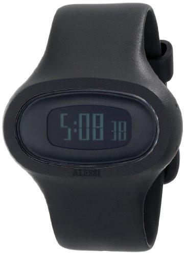 Alessi-AL25000-Reloj-digital-de-cuarzo-unisex-con-correa-de-plstico-color-negro