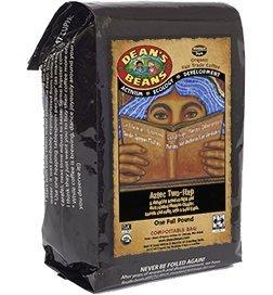Dean's Beans Organic Coffee Establishment, Aztec Two Step, Whole Bean, 16 Ounce Bag (Organic, Fair Trade and Kosher Certified)