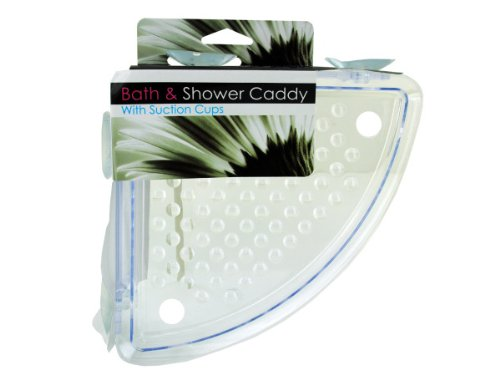 Kole Audio Corner Shower Caddy with Suction Cups