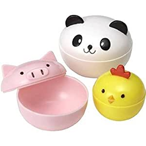 Panda Pig And Chick Food Containers Set