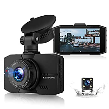 Campark Dual Dash Cam Full HD Front and Rear 3″ IPS Screen Dashboard Camera for Cars with Loop Recording G-Sensor 170° Wide Angle Night Vision and Parking Mode