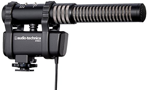 Audio-Technica AT8024 Stereo/Mono Camera-Mount Microphone by Audio-Technica