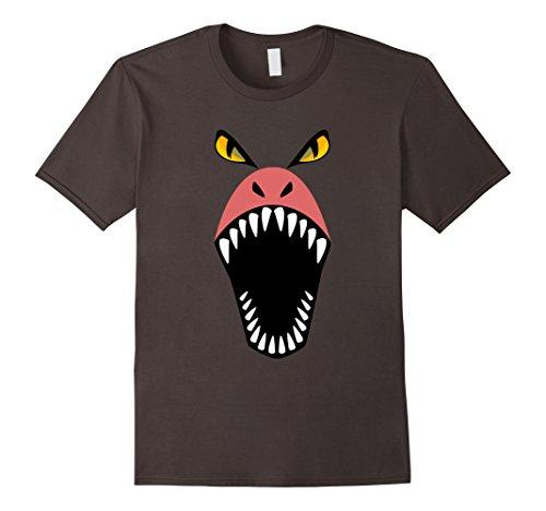Mens Diy Scary Halloween Costumes (Mens Dragon Shirt Halloween Costume Scary Funny for Kids Adults 2XL Asphalt)