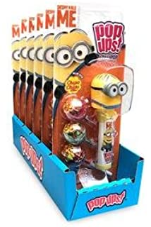 Amazon.com: Minion Hard Candy Lollipop 6pc / Minion Paleta ...