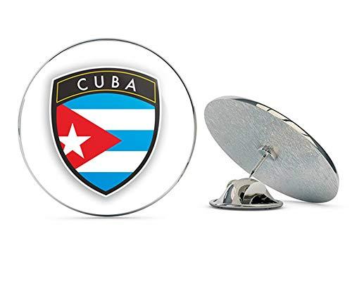 Cuba Flag Design Round Metal 0.75