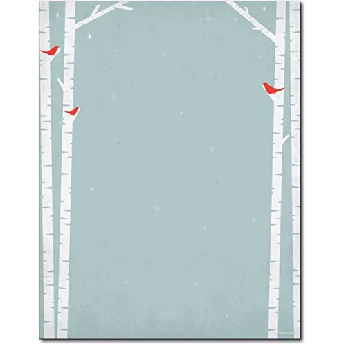 Birch Tree Silhouette Holiday Paper - 80 Sheets hot sale nrAMSpGm