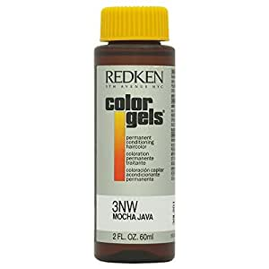 Redken Color Gels Permanent Conditioning Hair Color for Unisex, 3NW Mocha Java, 2 Ounce