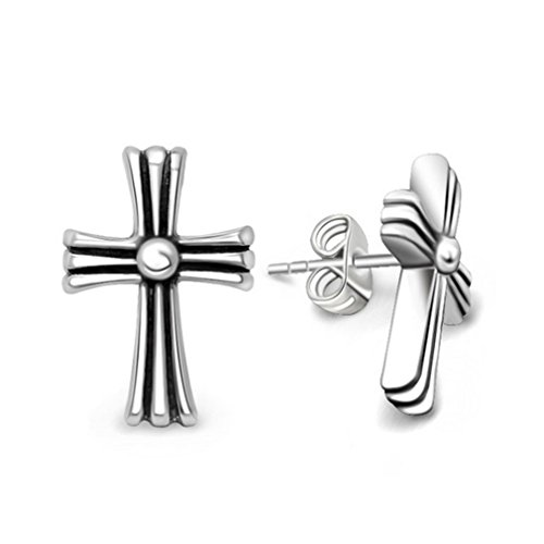 Coolest Homemade Costumes Baby (G&T Men's Fashion Earrings Titanium Cross Flower Earrings Personality Titanium Jewelry)