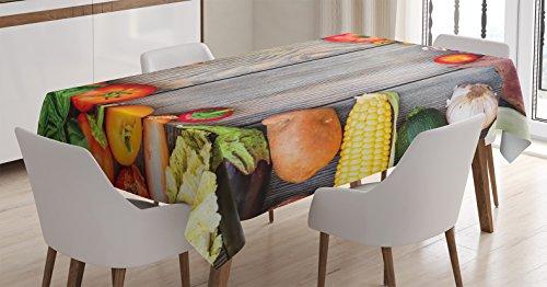 Amazon Com Ambesonne Farmhouse Decor Tablecloth Various