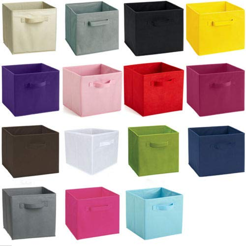 Useful Folded Non Woven Fabric Collapsible Boxes Home Room Clothes Organizer Cube Foldable Storage - Foldable Storage