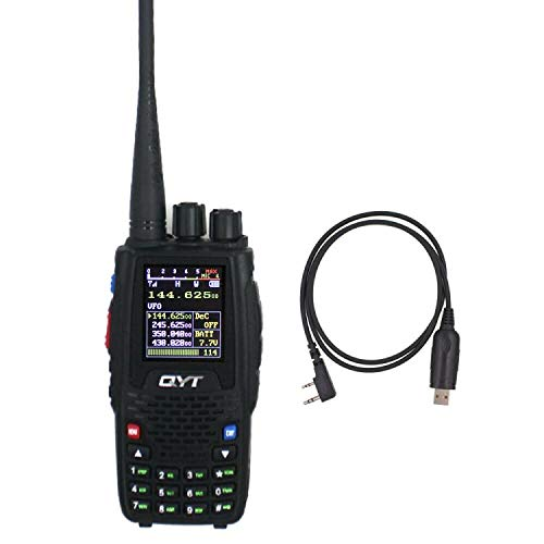 Quad Band Handheld Two Way Radio KT-8R 4band Outdoor intercom KT 8R UV 2 Way radios KT8R Color Display 5W transceiver + Programming Cable