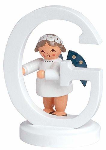 KWO Angel Figurine with Alphabet G, 7 cm