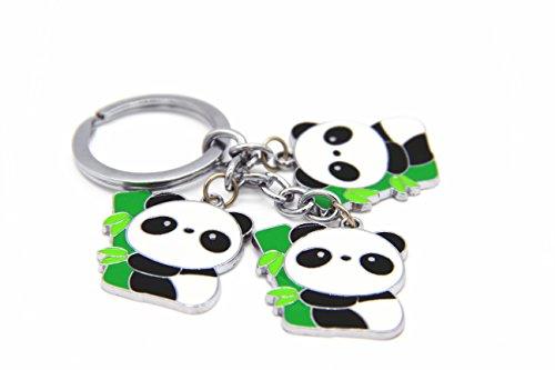 CellDesigns Enamel Panda Keychain Bag Charm (Enamel Bamboo)