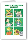 St. Patricks' Day card - Today Everyone Is Irish - 12 cards/13 envelopes