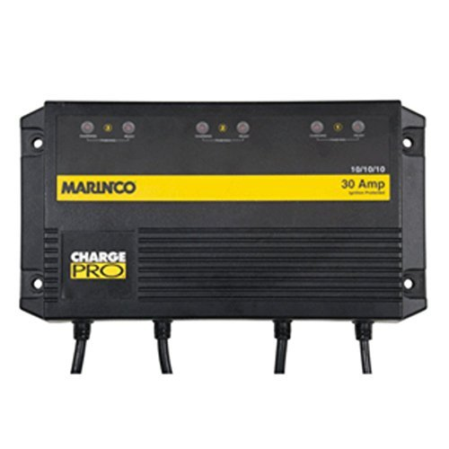 Marinco On-Board Battery Charger - 30A - 3-Bank - 120V Electronics Accessories