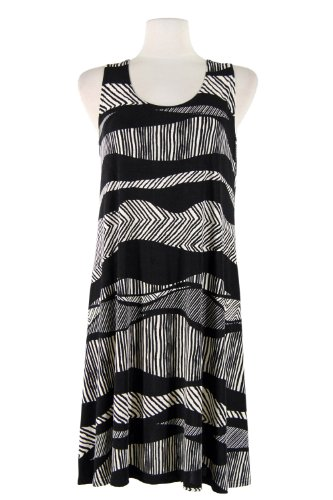 Print Dress Tank Jostar Missy W715 Stretchy Black Women's Ay8fqIfX
