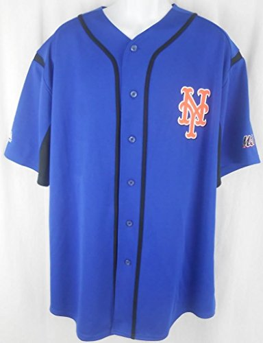 VF New York Mets MLB Majestic Blue Wind Up Jersey (L) - New York Mets Baseball Jersey