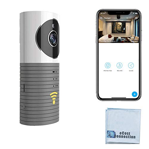 eCostConnection HD Wi-Fi Wireless Camera for Home Security, Baby, Pet Monitor Surveillance with Motion Detection, Microphone, Speaker Infrared LED Night Vision and Micro SD Slot for Local Storage